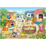 Puzzle 60 pièces : Les animaux de la ferme