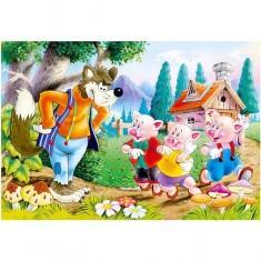 Puzzle 60 pièces : Les trois petits cochons