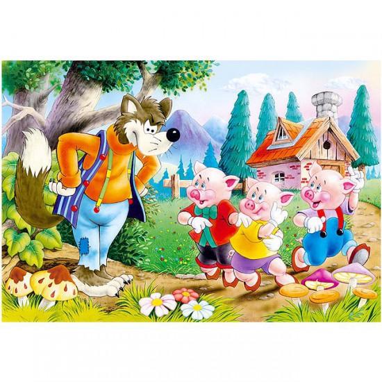 Puzzle 60 pièces : Les trois petits cochons - Castorland-06519