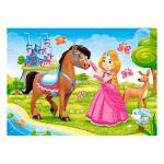 Puzzle 60 pièces : Princesse et ses amis