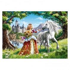 Puzzle 60 pièces : Princesse et son cheval