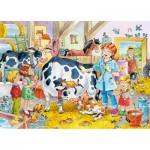 Puzzle 60 pièces : Vétérinaire à la ferme
