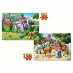 Puzzle 70 et 120 pièces : Au centre équestre