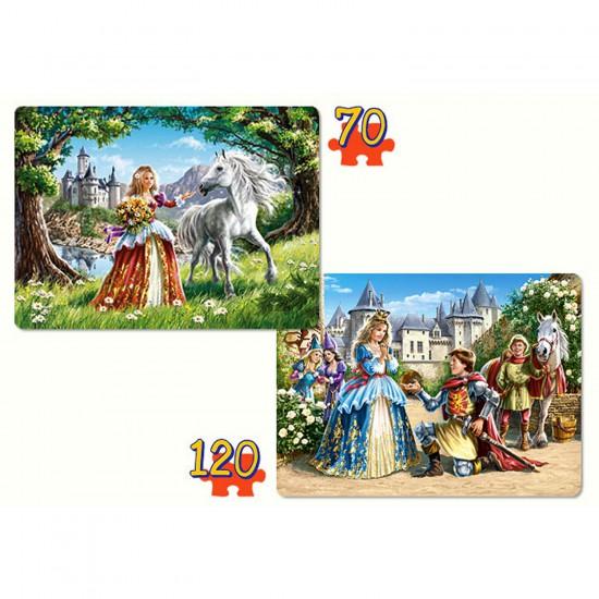 Puzzle 70 et 120 pièces : La princesse et son prince charmant - Castorland-021017