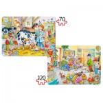 Puzzle 70 et 120 pièces : Les animaux et le docteur