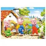 Puzzle 70 pièces : Les trois petits cochons