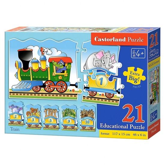 Puzzle éducatif 21 pièces : Train des animaux - Castorland-E-135