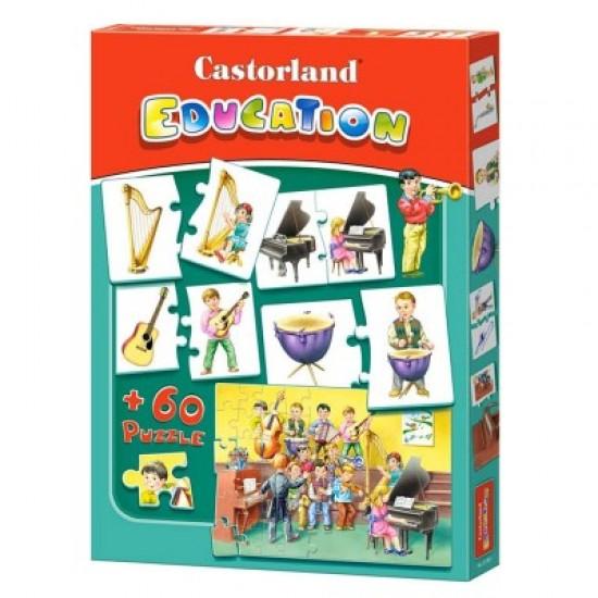Puzzle éducatif 60 pièces : Les instruments de musique - Castorland-E-081