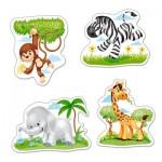 Puzzle évolutif 3 à 9 pièces : Animaux d'Afrique
