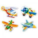Puzzle évolutif 3 à 9 pièces : Drôles d'avions