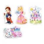 Puzzle évolutif 3 à 9 pièces : Le monde des Princesses