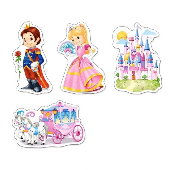 Puzzle évolutif 3 à 9 pièces : Le monde des Princesses - Castorland-005031