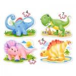 Puzzle évolutif 4 à 7 pièces : Bébés Dinosaures