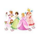 Puzzle évolutif 4 à 7 pièces : Jolies Princesses