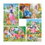 Puzzle évolutif 8 à 20 pièces : Blanche-Neige et les sept nains