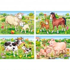 Puzzle évolutif 8 à 20 pièces : Mamans et leur bébé