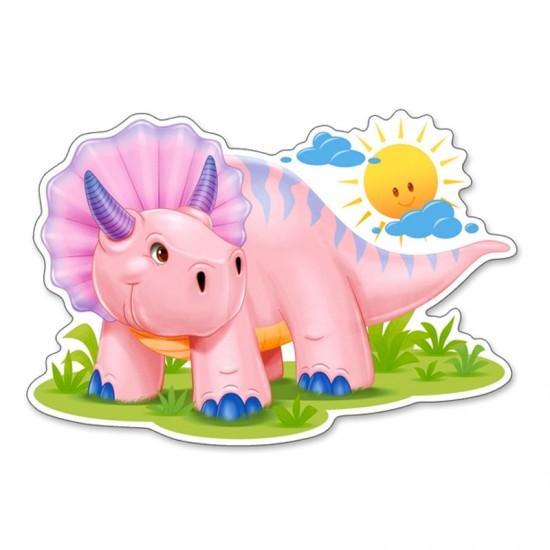 Puzzle Maxi 12 pièces : Bébé tricératops - Castorland-120048