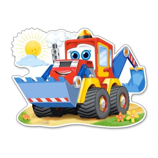 Puzzle Maxi 12 pièces : Drôle de pelleteuse - Castorland-120024