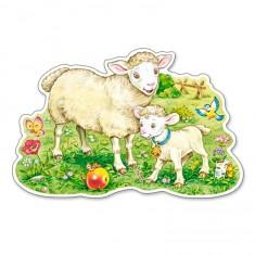 Puzzle Maxi 12 pièces : Un agneau et sa maman