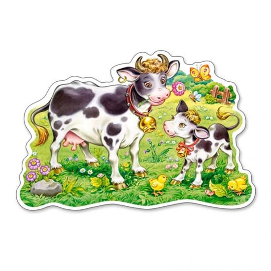 Puzzle Maxi 12 pièces : Vaches dans la prairie - Castorland-120062
