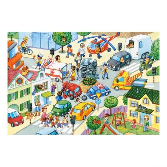 Puzzle Maxi 40 pièces : Collision de la route - Castorland-040100