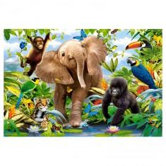 Puzzle Maxi 40 pièces : Jungle Junior