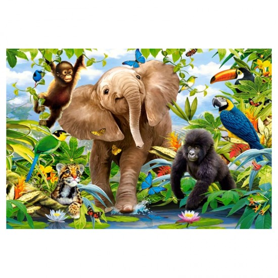 Puzzle Maxi 40 pièces : Jungle Junior - Castorland-040124