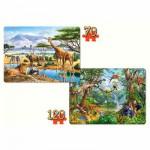 Puzzles 70 à 120 pièces : Les animaux de la jungle