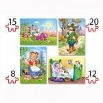 Puzzles de 8 à 20 pièces : 4 puzzles : Le petit chaperon rouge