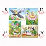 Puzzles de 8 à 20 pièces : 4 puzzles : Thumbelina, poucette