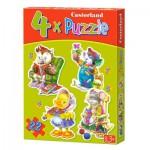Puzzles évolutifs x 4 : Temps de loisirs