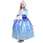 Déguisement La Reine des Neiges (Frozen) (avec manteau) : 8/10 ans
