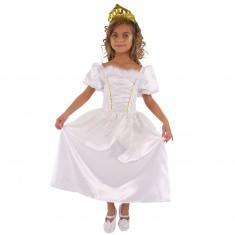 Déguisement Princesse blanche : 3/5 ans