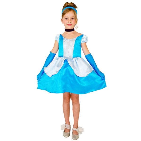 D guisement princesse cendrillon robe courte 8 10 ans jeux et jouets c sar avenue des jeux - Deguisement princesse aurore ...