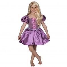 Déguisement Princesse Raiponce : Robe courte : 5/7 ans