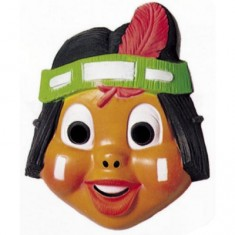 Masque Petit indien : Indien plume rouge