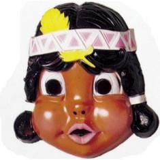 Masque Petit indien : Indienne plume jaune