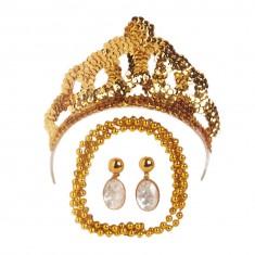 Parure de bijoux dorée