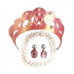 Parure de bijoux rose
