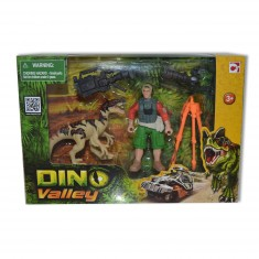 Coffret Dino Valley : Dinosaure beige et figurine caméraman