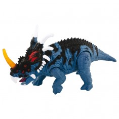 Figurine Dino Valley sonore : Styracosaure bleu