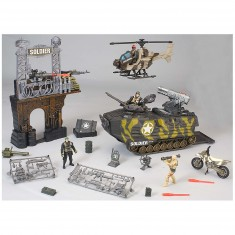 Figurines soldats et char : Coffret Soldier force