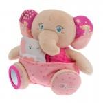 Peluche Soft Cuddles : Éléphant rose