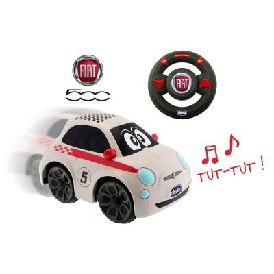 Voiture Radiocommandée : Fiat 500 blanche - Chicco-00007275000000