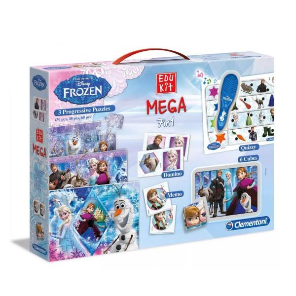 Coffret edukit mega 7 en 1 la reine des neiges frozen jeux et jouets clementoni avenue - Jeux reine des neige en ligne ...