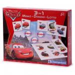 Coffrets jeux 3 en 1 : Cars 2 : Memo, Domino, Loto
