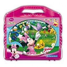 Puzzle 24 cubes : Mickey et ses amis Suivez Minnie