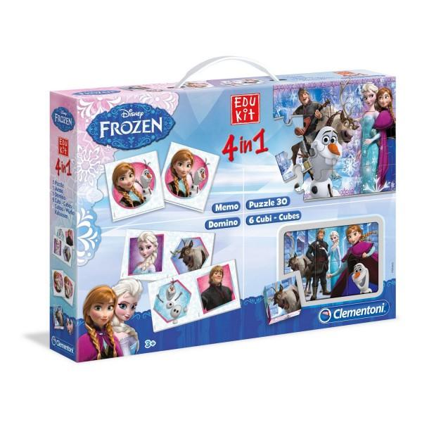 Mallette edukit 4 en 1 la reine des neiges frozen jeux - Jeux de reine des neige gratuit ...