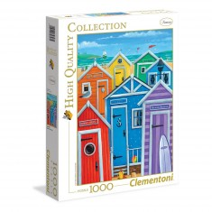 Puzzle 1000 pièces : Cabanes de plage