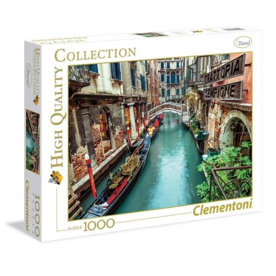 Puzzle 1000 pièces : Canal à Venise - Clementoni-39328